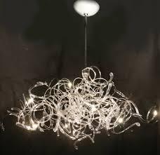 hand n glass chandelier jellyfish light fixture fixtures