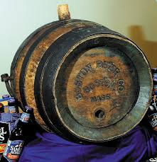 this antique wooden beer keg was donated to jim koch founder and owner of boston
