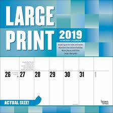 print a calendar 2019 large print calendar 2019 calendar club uk