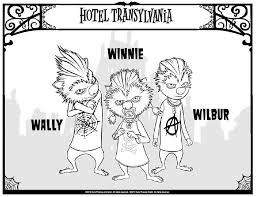 Coloring Page Hotel Transylvania Winnie Wally Wilbur 4