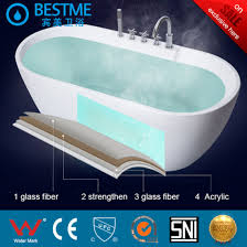 indoor freestanding acrylic bathtub with anti slip handle bt y2590
