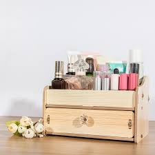 desk diy wooden makeup storage box organizer for jewelry cosmetic case office supplies desktop holder container to diy wood desk