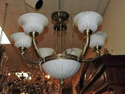 glass clip on chandelier shades