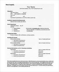 High School Resume Mesmerizing 60 High School Resume Samples Sample Templates