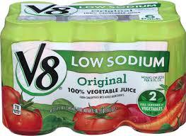 v8 100 vegetable juice low sodium 11 5 fl oz original 6 cans