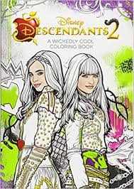Descendants 2 A Wickedly Cool Coloring Book Art Of Coloring