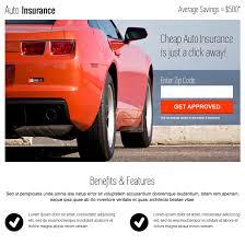 instant auto insurance zip capture clean responsive landing page auto insurance example