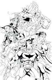 Justice League Coloring Free Printable Justice League Unlimited