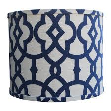 luxurious navy lamp shade on fretwork by doodlefish rosenberryrooms com in shades