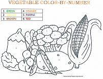 Designs include cornucopias, corn stalks, and turkeys! Color By Number Coloring Pages