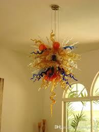 chihuly glass chandelier hot glass chandelier ac led bedroom light cute design hand blown glass pendant lamps stained glass pendant light hand blown