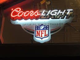 Coors Light Light Up Sign Beer Sign Coors Light Nfl Football Beer Signs