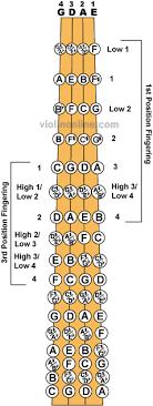 Violin Online Fingerboard Chart