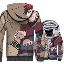 <b>Uzumaki Naruto Gaara</b> Print Anime Hoodies <b>Men</b> 2018 New Style ...