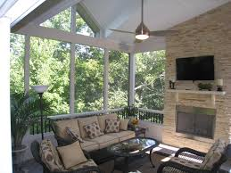 screened in porch with fireplace. Modern Screened Porch With Fireplace Within How Much Does It Cost To Build A In For | Coursecanary.com E