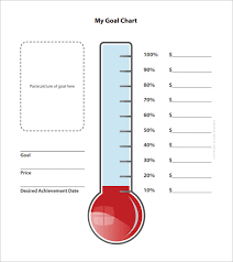 How To Make A Thermometer Goal Chart Goal Chart Bismi Margarethaydon Com