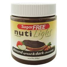 Light Chocolate Spread Nutilight Sugar Free Almond And Dark Chocolate 11 Oz