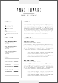Resumes The Best Modern For Business Singular Resume Template