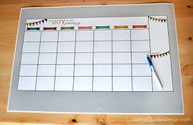 DIY Dry Erase Calendar The pen in the picture above is for a size  reference. This is a pretty big calendar, lots of room to organize!
