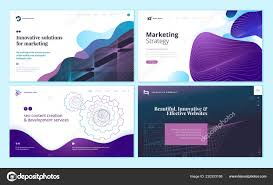 Page Design Templates Set Web Page Design Templates Abstract Background Marketing