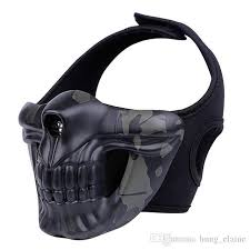 2019 skull mask outdoor field masks airsoft paintball tractical hood glory knight mask cs tactical protective equipment from hung elaine