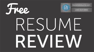 free resume review   brandred resume
