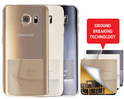 samsung phone back. mobile radiation reducing cellsafe radi-chip for samsung s6, s6e, s6e+. reduces sar by up to 81%* - phone back v