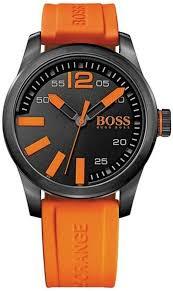 men s hugo boss paris orange collection watch 1513047