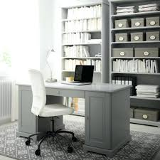 ikea home office desk. Ikea Home Office Computer Desk A With Grey Bookcases And Swivel Chair White Cotton Malm Hack