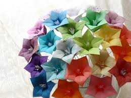 paper flower origami oh so ombre origami paper flower bouquet by dearbetsy etsy on how to