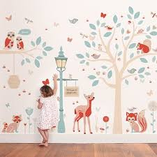 Beautiful Girl Baby Nursery Wallpaper This Cute Removable Sticker  Collection Interior Design Cute Owl Branch Trees
