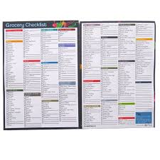 grocery checklist notepads a5 grocery food shopping ticklist checklist organiser