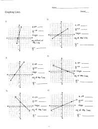 graphing lines worksheet answers