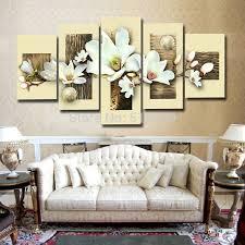 the white magnolia 5pcsset textured handmade modern abstract oil magnolia wall art on white magnolia wall art with the white magnolia 5pcsset textured handmade modern abstract oil