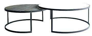 round nesting coffee table glass tables chrome elm coco