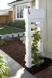 landscaping around mailbox post. Diy Trellis Mailbox, Lowe\u0027s Creative Ideas, 10 DIY Mailbox Ideas For A Happy | Remodelaholic.com #diy #mailbox #curbappeal Landscaping Around Post