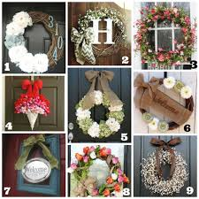 spring front door wreathsSpring Front Door Wreaths  istrankanet