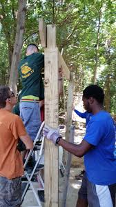 Edwin McCray doing his Pergola Eagle Scout Project for Angela's ...