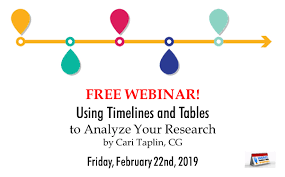 Research Tables Free Webinar Using Timelines And Tables To Analyze Your
