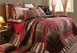 8PC QUEEN TACOMA Rustic Red Quilt Shams Pillows cases Skirt Bed ... & Image is loading 8PC-QUEEN-TACOMA-Rustic-Red-Quilt-Shams-Pillows- Adamdwight.com