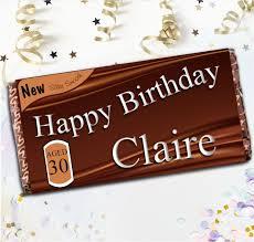 personalised original style happy birthday 114g galaxy chocolate bar gift n42