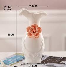 White Ceramic Decorative Accessories Simple China Ceramic Flower Vase White Ceramic Vase OfficeHome Decorative