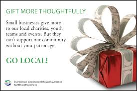christmas buy local graphics ads and posters gift ad charity green