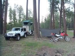 motorcycle hammock cing in the coconino forest