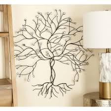 glitz inspired iron wire tree wall decor 54604 the home depot