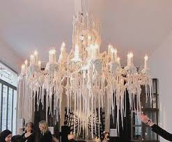 wax candle chandelier