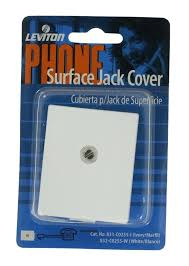 picture 1 of phone jack cover decorative wall plate