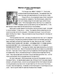 charlemagne historical fiction reading essay and primary source  charlemagne historical fiction reading essay and primary source samples