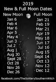 Full Moon Chart 2019 2019 Full And New Moon Calendar New Moon Full Moon Moon