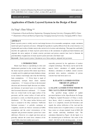 Elastic Theory Of Design Application Of Elastic Layered System In The Design Of Road